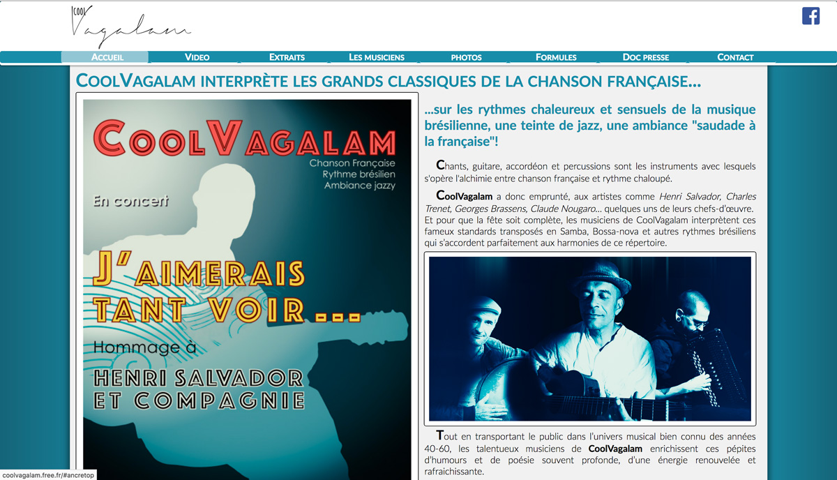 coolvagalam - site html5 css3- jquery - réalisation Thierry Gaster